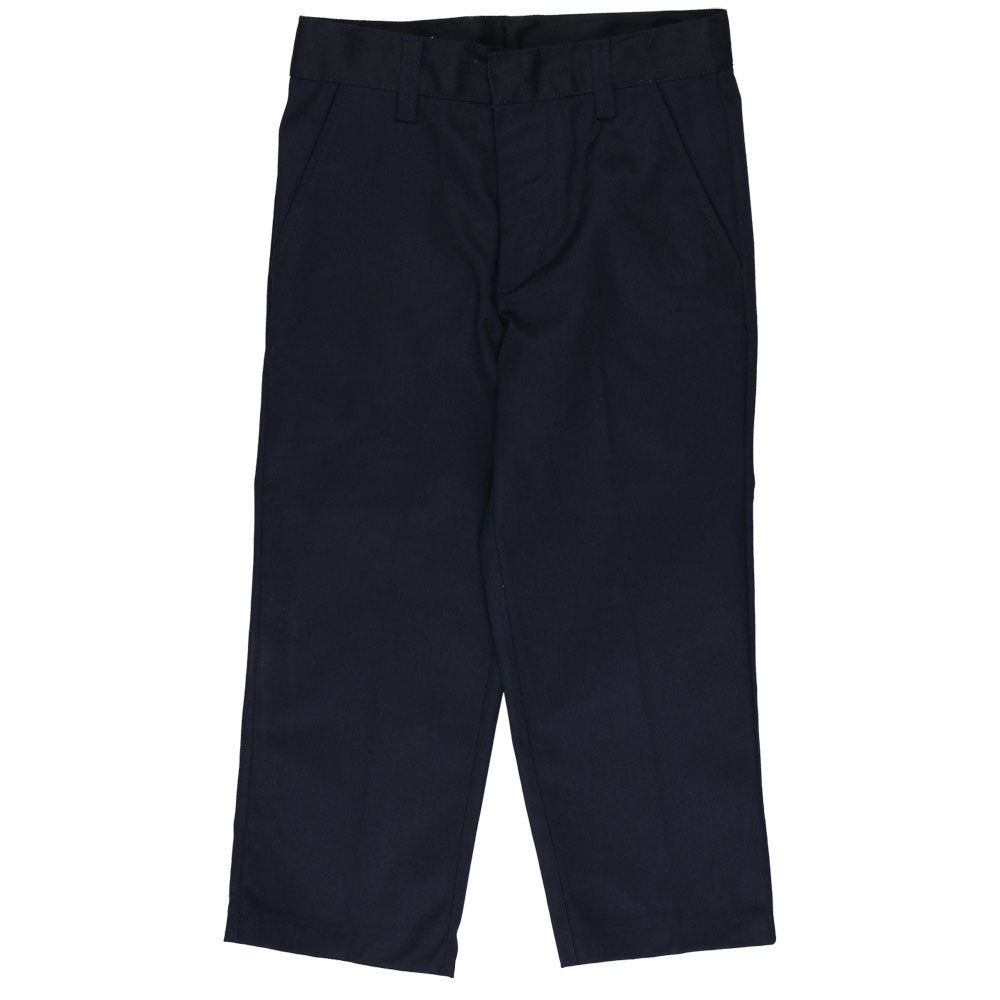 Flat Front Pants Double Knee - Adjustable Waist - Boys - Navy
