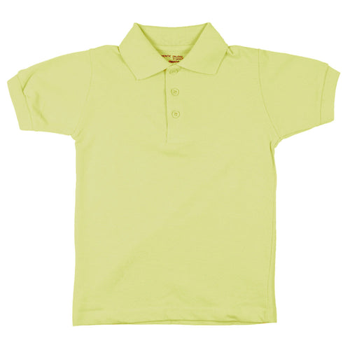 Short Sleeve Pique Polo Shirt - Boys - Yellow