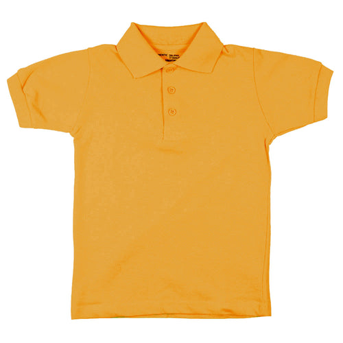 Short Sleeve Pique Polo Shirt - Boys - Gold