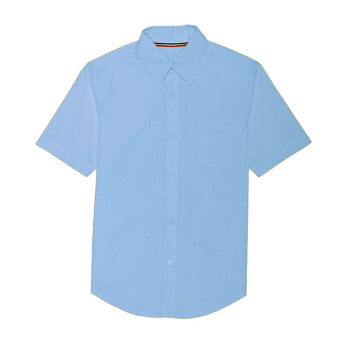 Short Sleeve Broadcloth Dress Shirt - Boys- Light Blue