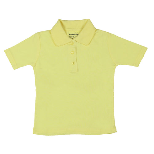 Short Sleeve Interlock Polo - Girls - Yellow