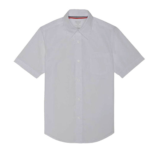 Short Sleeve Broadcloth Dress Shirt - Boys- White