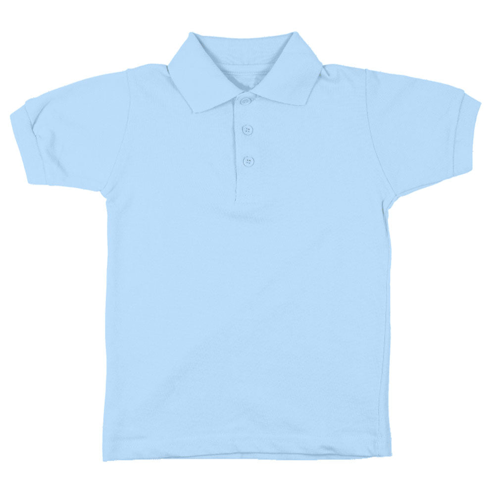 a8235bf04 Authentic Galaxy. Short Sleeve Pique Polo Shirt - Boys - Light Blue