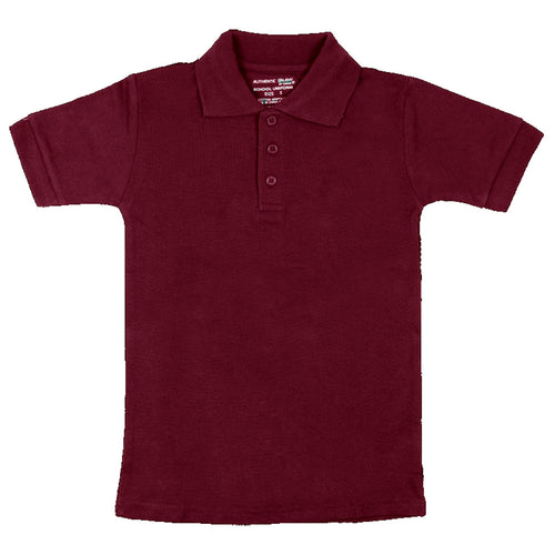 Short Sleeve Pique Polo Shirt - Boys - Burgundy