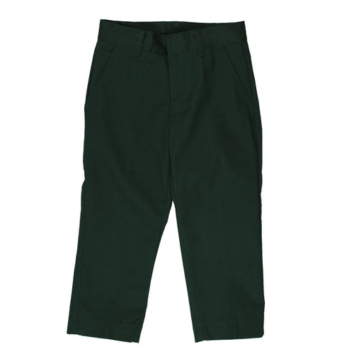 Flat Front Pants Double Knee-Adjustable Waist - Boys - Hunter