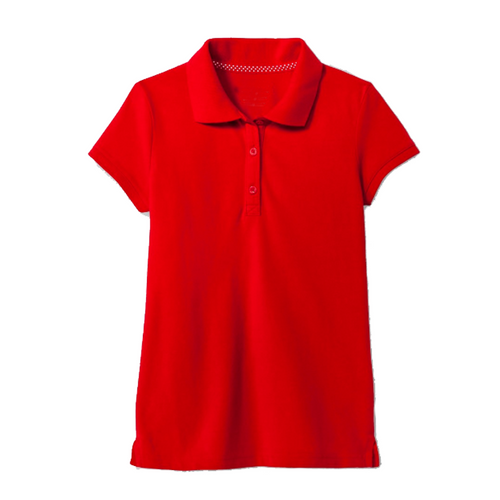 Short Sleeve Pique Polo - Girls - Red