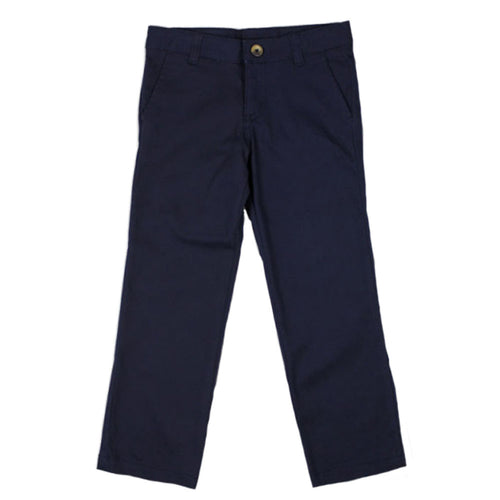 Twill Straight Leg Pant - Girls - Navy