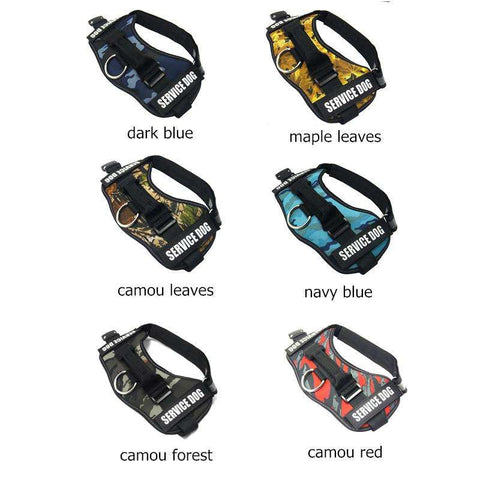 familydoglovers.com - Service Dog Harness With Hook and Loop Straps and Handle