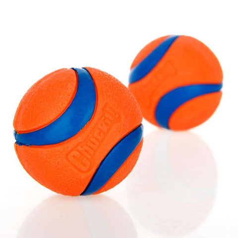 familydoglovers.com - Pet Dog Rubber Pinball Two Balls And A Ball Packing Orange Rubber Resistance To Bite Molars Toys Pet Supplies