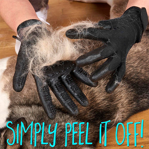 De-shedding & Grooming Gloves - Left & Right (1 pair)
