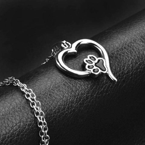 Image of familydoglovers.com - Cute Pet Paw Print Necklace