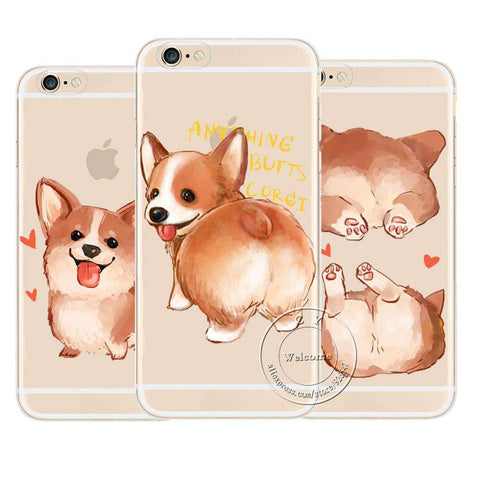 Image of familydoglovers.com - Super Cute Corgi Case For Apple iPhone