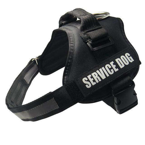 familydoglovers.com - Service Dog Harness With Hook and Loop Straps and Handle - black / S