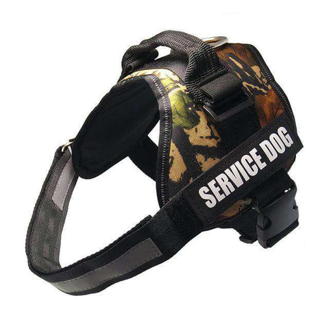 Image of familydoglovers.com - Service Dog Harness With Hook and Loop Straps and Handle - camouflage 5 / S