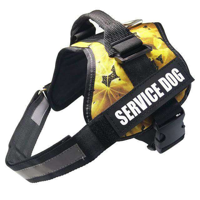 familydoglovers.com - Service Dog Harness With Hook and Loop Straps and Handle - camouflage 3 / S