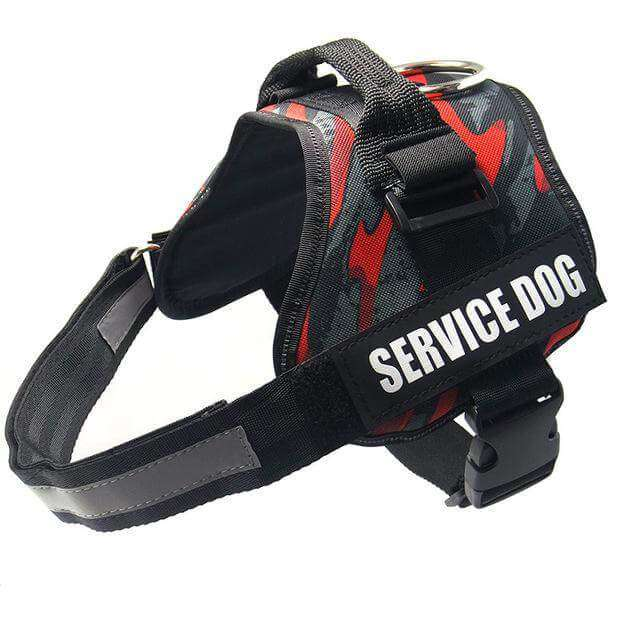 familydoglovers.com - Service Dog Harness With Hook and Loop Straps and Handle - camouflage 2 / S