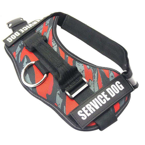 Image of familydoglovers.com - Service Dog Harness With Hook and Loop Straps and Handle