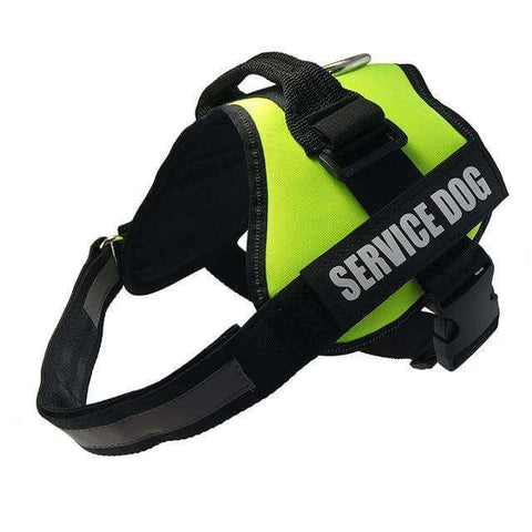 Image of familydoglovers.com - Service Dog Harness With Hook and Loop Straps and Handle - green / S