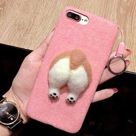 familydoglovers.com - 3D Fluffy Corgi Phone Butt Cases - Pink / for iphone 6 6s