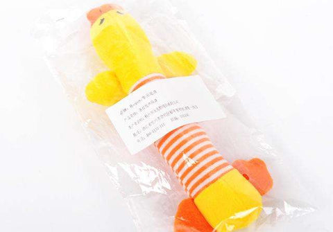 Image of familydoglovers.com - Pet Chew Toys Super Durable - Orange Duck