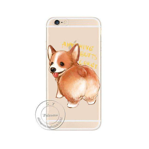 Image of familydoglovers.com - Super Cute Corgi Case For Apple iPhone - Style 1 / For iPhone 5 5S SE