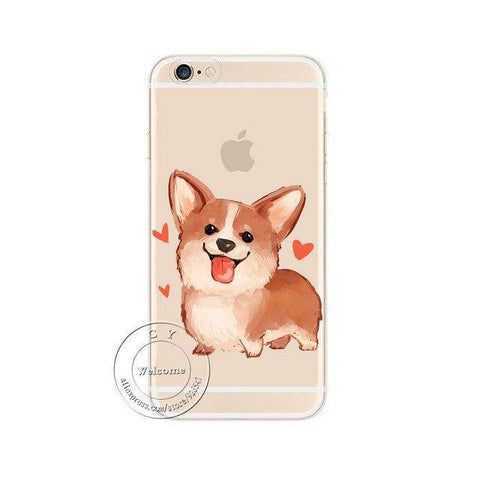 Image of familydoglovers.com - Super Cute Corgi Case For Apple iPhone - Style 2 / For iPhone 5 5S SE