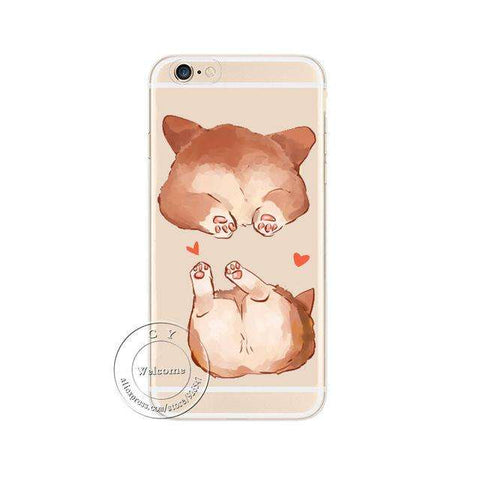 Image of familydoglovers.com - Super Cute Corgi Case For Apple iPhone - Style 3 / For iPhone 5 5S SE