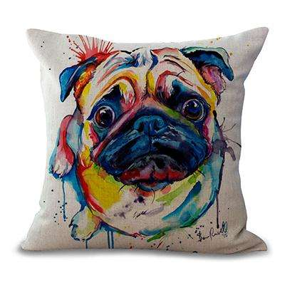 "Image of familydoglovers.com - 18"" Dog Printed Decorative Sofa Throw Cushion Pillows - Style 6"