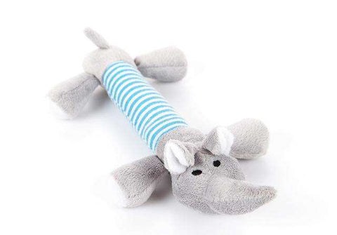 familydoglovers.com - Pet Chew Toys Super Durable - Blue Elephant