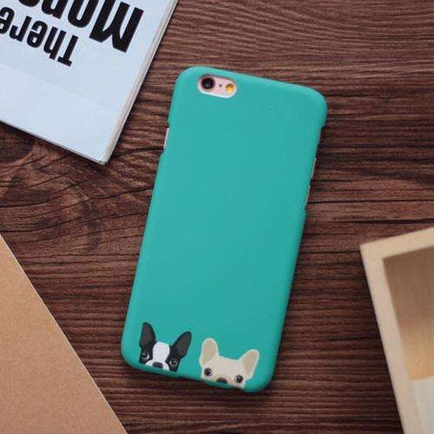 Image of familydoglovers.com - Cute Dogs Phone Cases For iphone 5 5S SE 6 6S Plus - Green / For Iphone 5 5S SE