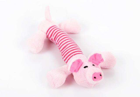 familydoglovers.com - Pet Chew Toys Super Durable - Pink Pig