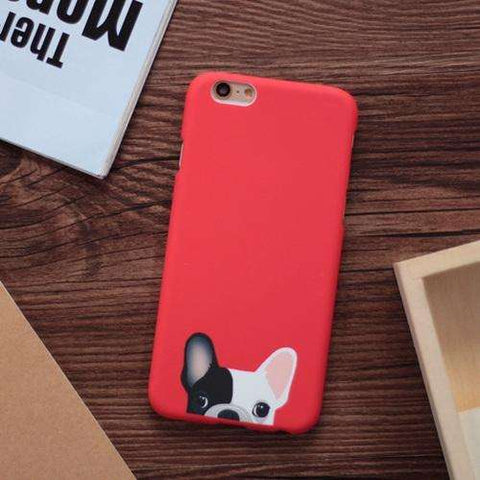 Image of familydoglovers.com - Cute Dogs Phone Cases For iphone 5 5S SE 6 6S Plus - Red / For Iphone 5 5S SE