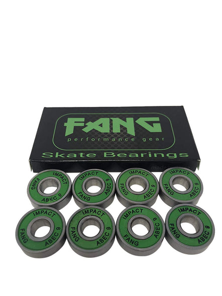 Fang Premium Skateboard Bearings, Pro Longboard Bearings, 608, ABEC (Pack of 8)