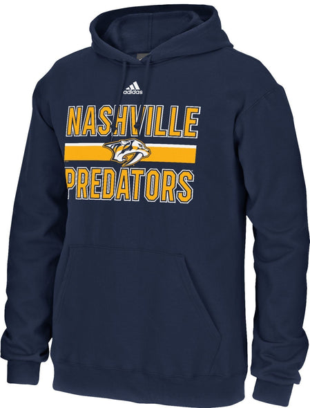 Adidas Men's Nashville Predators Facewash Navy Pullover Hoodie - Good Gear Hockey Equipment