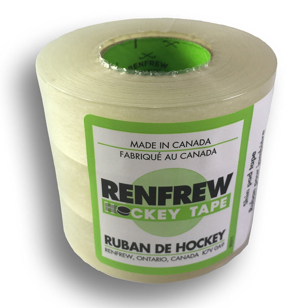 Renfrew 3 Pack Renfrew Clear Polyflex, Poly Shin Sock Hockey Tape - Good Gear Hockey Equipment