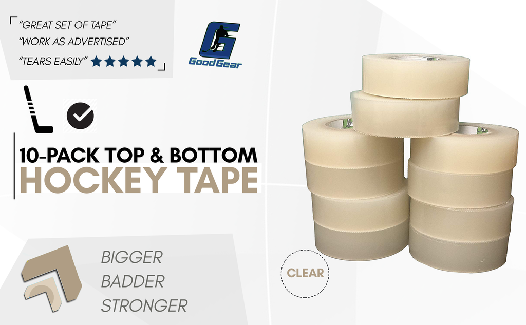 Easy Stretch, Easy Rip. Hockey Shin Guard Tape