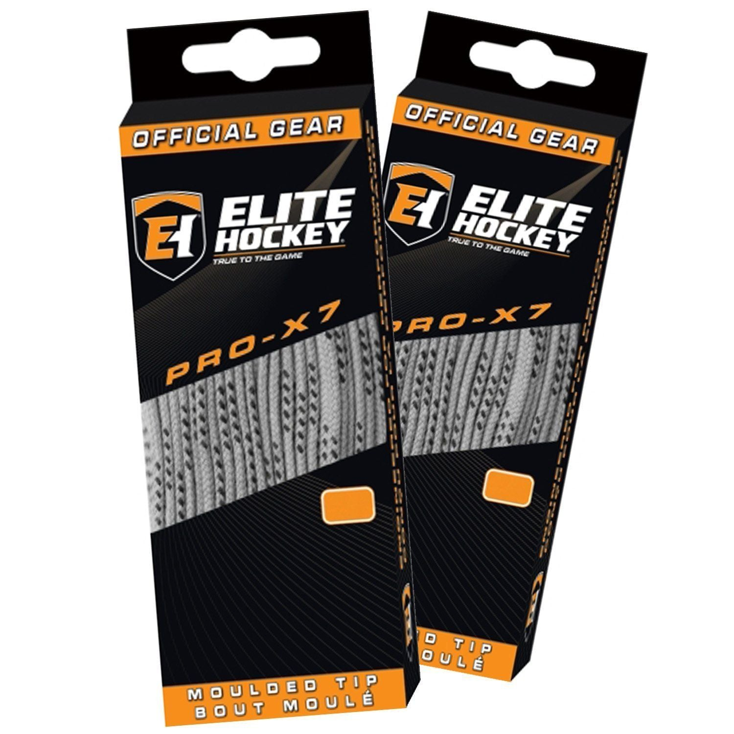 Elite Hockey Pro X7 Wide Cotton Hockey Skate Laces -- SET of 2 Pairs - Good Gear Hockey Equipment