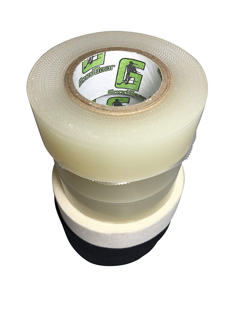Good Gear Hockey Tape 6-Pack (3 Clear/2 Black/1 White)