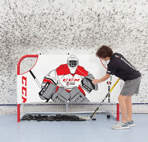 Sniper's Edge Hockey Ultimate Goalie Extremely Durable Shooter Tutor