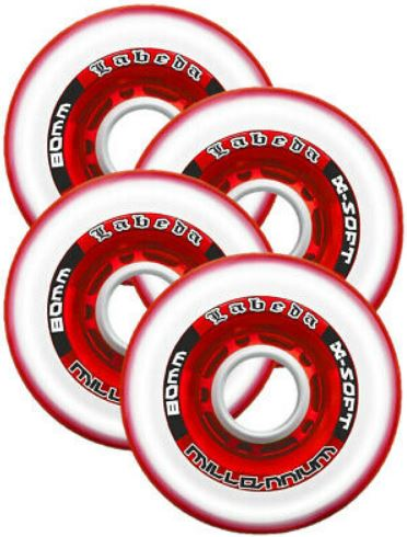 Labeda Millenium Inline Skate Wheels 4 Pack