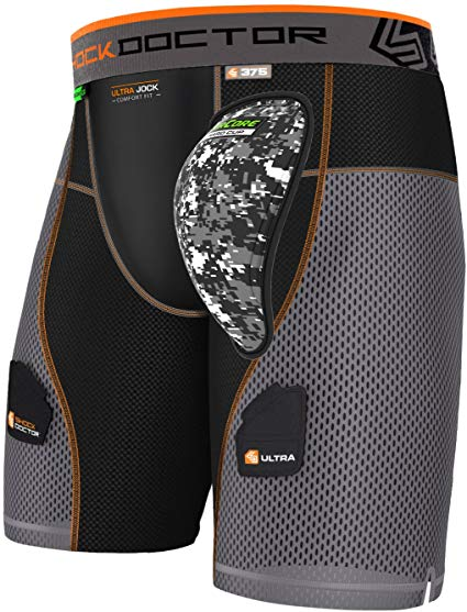 Shock Doctor 375 Powerstride Hockey Shorts w/ AirCore cup