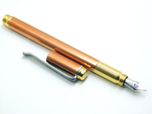 TiLiner Copper Fountain Pen w/Brass grip