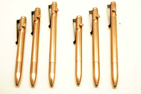 Copper Bolt Pens