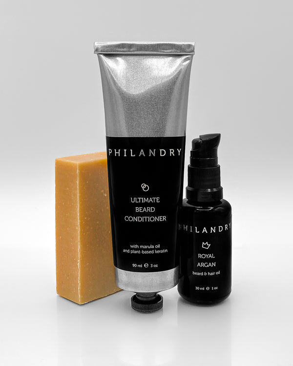 Beard Care Product Set Shampoo Conditioner Oil PHILANDRY