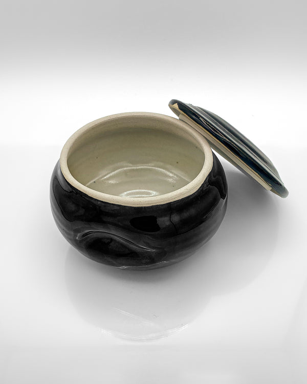 Hand Made Porcelain Shave Bowl for Traditional Shaving Soap for Men by PHILANDRY Open Empty