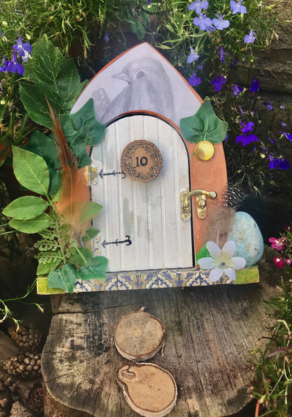 Bird cottage fairy door