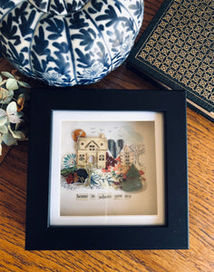'Home is where you are' shadow box artwork