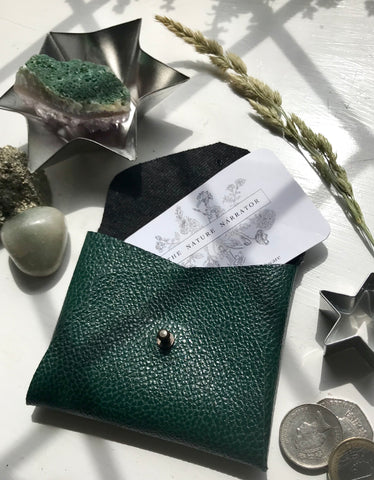 Emerald Green coin purse