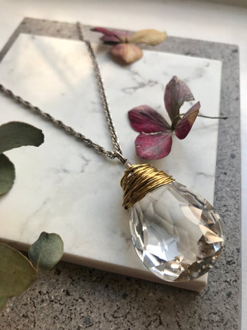 Crystal drop pendant
