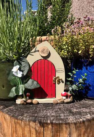 Toad stool fairy door